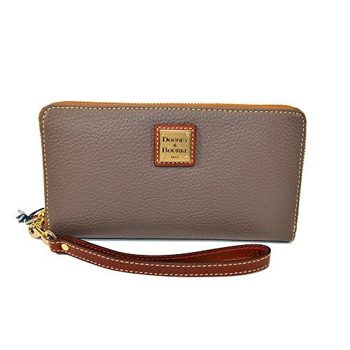 Dooney & Bourke Lg Pebble Leather Zip Phone Clutch Wallet Elephant by Dooney & Bourke