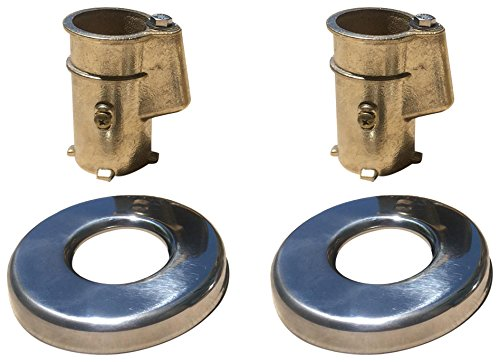 Inter-Fab Anchor & Escutcheon Pool Rail Kit, Stainless Steel (Chemical Concrete Anchors)
