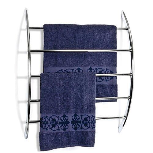 bremermann® Handtuchhalter zur Wandmontage mit 5 Stangen aus Metall, verchromt