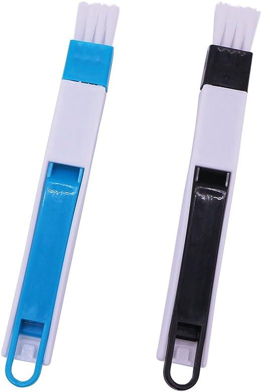 Nardo Visgo 2 en 1 multiuso desmontable de pista de ventana cepillo de limpieza con recogedor, herramienta de limpieza para puerta corredera cristal pista y teclado (2-Pack): Amazon.es: Hogar