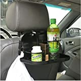 EFORCAR(R) 1 PCS Folding Auto Car Back Seat Table Drink Food Cup Tray Holder Stand Desk (BLACK)