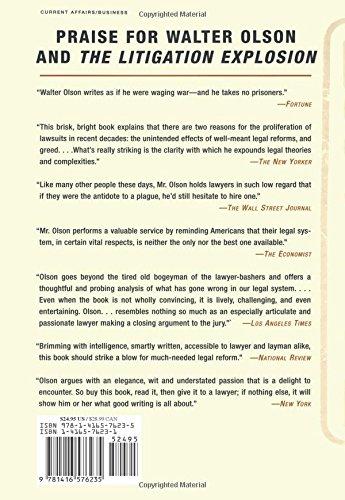 The Excuse Factory: Walter Olson: 9781416576235: Amazon.com: Books