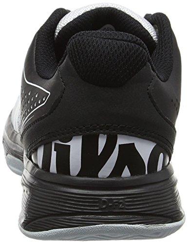 Wilson Kaos Comp Jr Bk/Wh/Pearl Blue 10.5, Zapatillas de Tenis Unisex Niños, Negro (Black/White/Pearl Blue), 28.5 EU