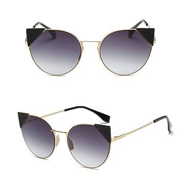 scastoe las mujeres Vintage ojo de gato gafas de sol grande ...