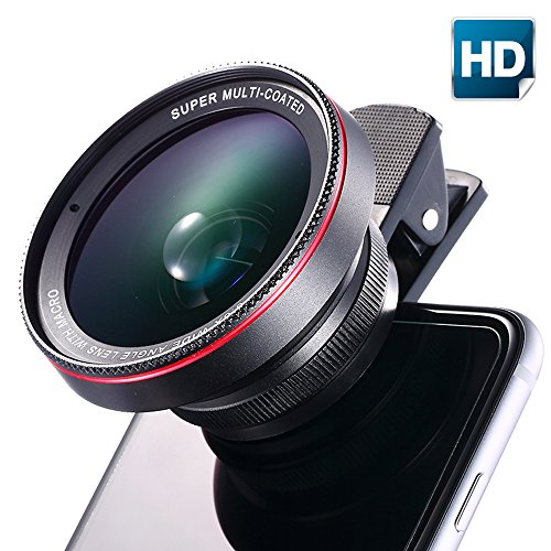 NATAMO Cell Phone Camera Lens Kit include 60mm 0.45X Super Wide Angle & 15X …