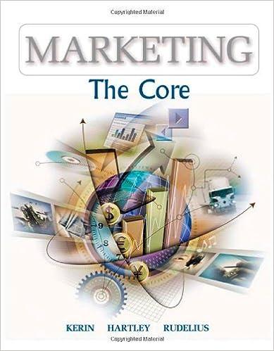 Marketing the core mcgraw hillirwin series in marketing roger a marketing the core mcgraw hillirwin series in marketing roger a kerin steven w hartley william rudelius 9780072547030 amazon books fandeluxe Images