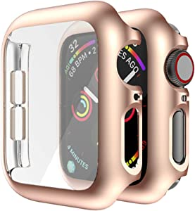 MroTech Screen Protector Case Compatible for Apple Watch Series 3/2/1 42mm Cases with Screen Protector Hard PC Bumper Shell Housing with Display Protective Cover for iWatch Case 42 mm Champagne Gold