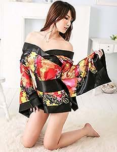Sexy Lencería Erótica Mujeres Ropa de Dormir Ropa Interior Babydoll Kimono Japonés Uniforme Tentación Pijamas Camisón