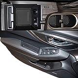 Custom Fit Cup Holder Door Liner Accessories 2018 + Subaru Impreza Crosstrek 14-pc Set (Solid Black)