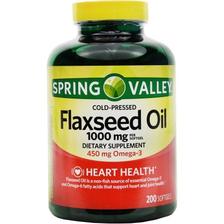 Spring Valley: Dietary Supplement Flaxseed Oil, 200 ct Review