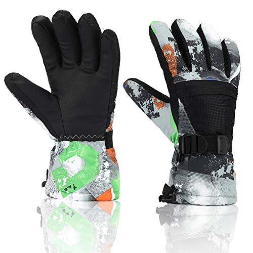 Ski Gloves, Yidomto Waterproof Warmest Winter Snow Gloves for Mens, Womens, Boys, Women, Kids – DiZiSports Store