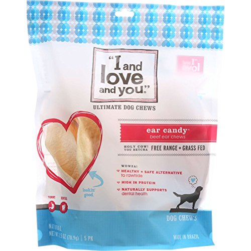 I and Love and You Ear Candy Ultimate Dog Chew – 5 per pack – 6 packs per case. Review