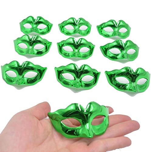Yiseng Mini Masquerade Mask Party Decoration 10pcs Pack Supper Small Masks Mardi Gras Halloween Party Decor Kids Favors -