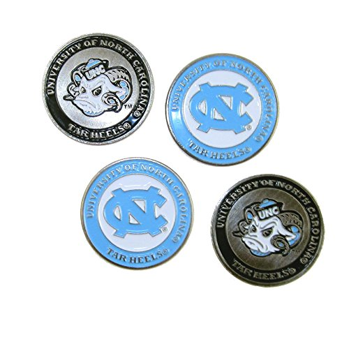 North Carolina Tar Heels Double Sided UNC Golf Ball Markers (Set of ()