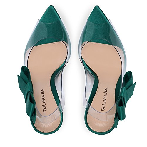 L@YC Damen High Heels Transparent/Funkelnd/Peep Toe Hochzeit/Outdoor/Party #PVC Blue