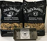 Jack Daniel's Whiskey Barrel BBQ Smoking Chips (2) Pack w/Free Genuine Red Eye Smoker Chip Tray and Cool Sticker