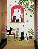 LifEast Happy Animals Pattern Japanese Noren Curtain Children Room Doorway Curtain (Series 1)