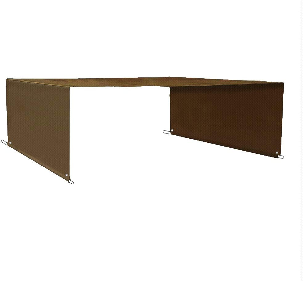 ALION HOME Custom HDPE Permeable Canopy Sun Shade Cover Replacement with Rod Pockets for Pergola 14 x 8 , Mocha Brown