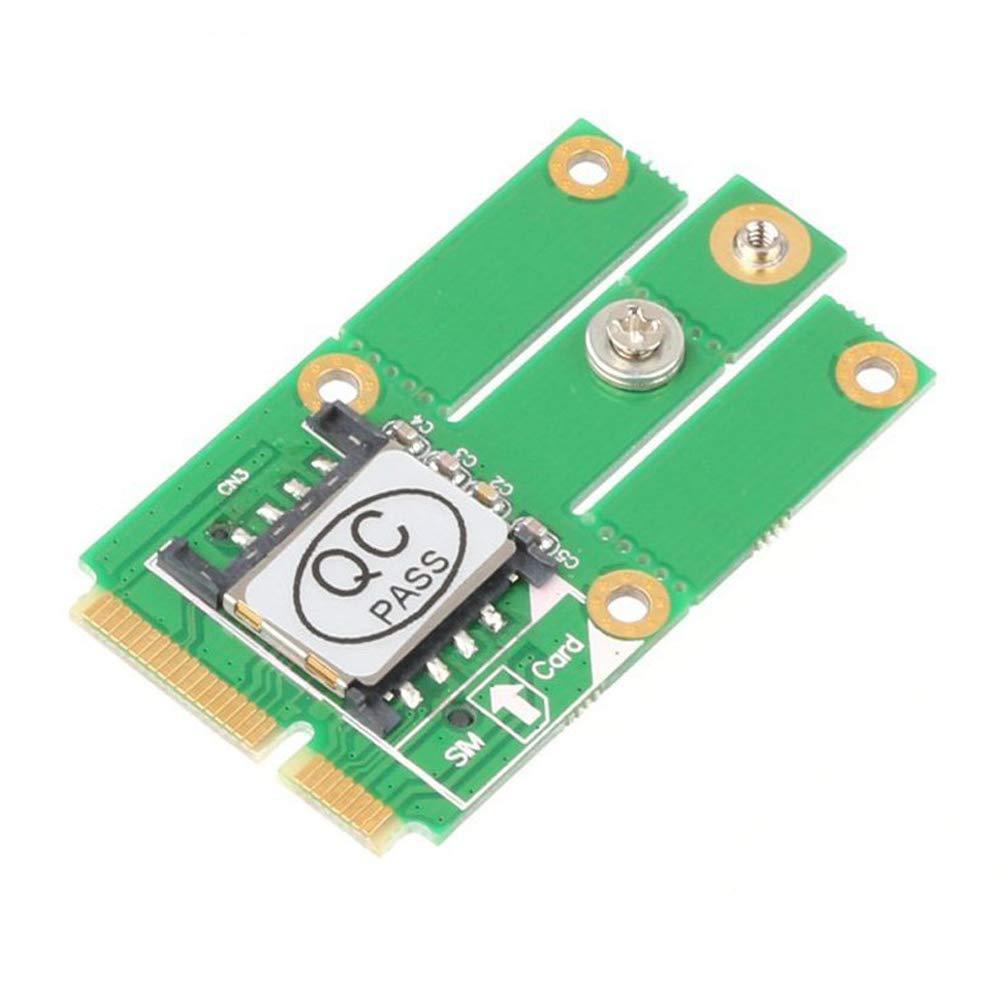 Mini PCIe M.2 NGFF Key B to Adapter w/SIM Card for CDMA GPS