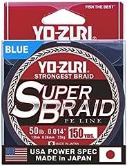 Yo-Zuri Superbraid 150 yd Floating Braid, Blue, 50 lb