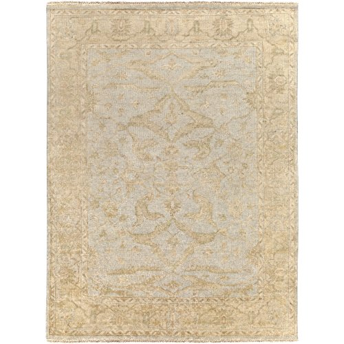 Surya Hillcrest HIL-9010 Classic Hand Knotted 100% New Zealand Wool Blue Haze 8' x 11' Modern Vintage Area - Biscotti 811
