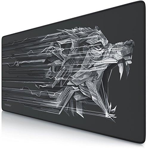 TITANWOLF - XXL Alfombrilla para raton 900 x 400 mm - Speed Gaming Mousepad - Mouse Pad para Ordenador - Base para Mesa Grandes Dimensiones - Diseno: Epsilon