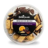 Biscotti Bites - Chocolate Dipped Biscotti - 9.5oz Wheel Assortment - by Dilettante (2 Pack)