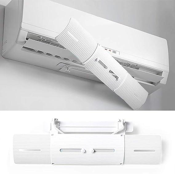 PopHMN Deflector De Viento De Aire Acondicionado Ajustable, Protector Antiviento Duradero Deflector De Viento Cubierta Deflectora con Fuerte Cinta Autoadhesiva para El Hogar