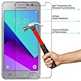 M.G.R.J SAMSUNG Galaxy J2 Ace Tempered Glass Screen Protector with 0.3mm Ultra Slim 9H Harness, 2.5D Round Edge, Crystal Clear & Alcohol Prep Pad