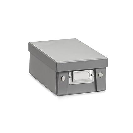 Zeller 17594 Caja de almacenaje de cartón Gris (Grau) 14 x 24 x 8.5