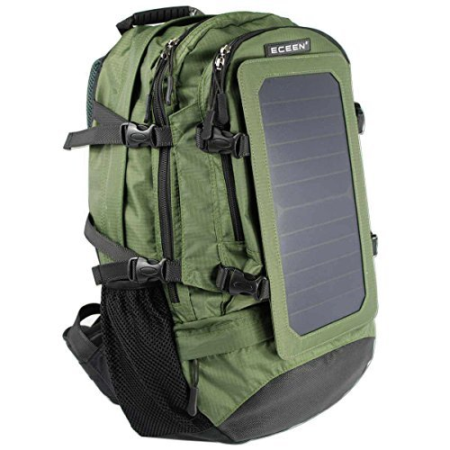 ECEEN Solar Backpack, 7 Walls Solar Panel Charge for Smart Cell Phones and Tablets, GPS, eReaders, Bluetooth Speakers, Gopro Cameras