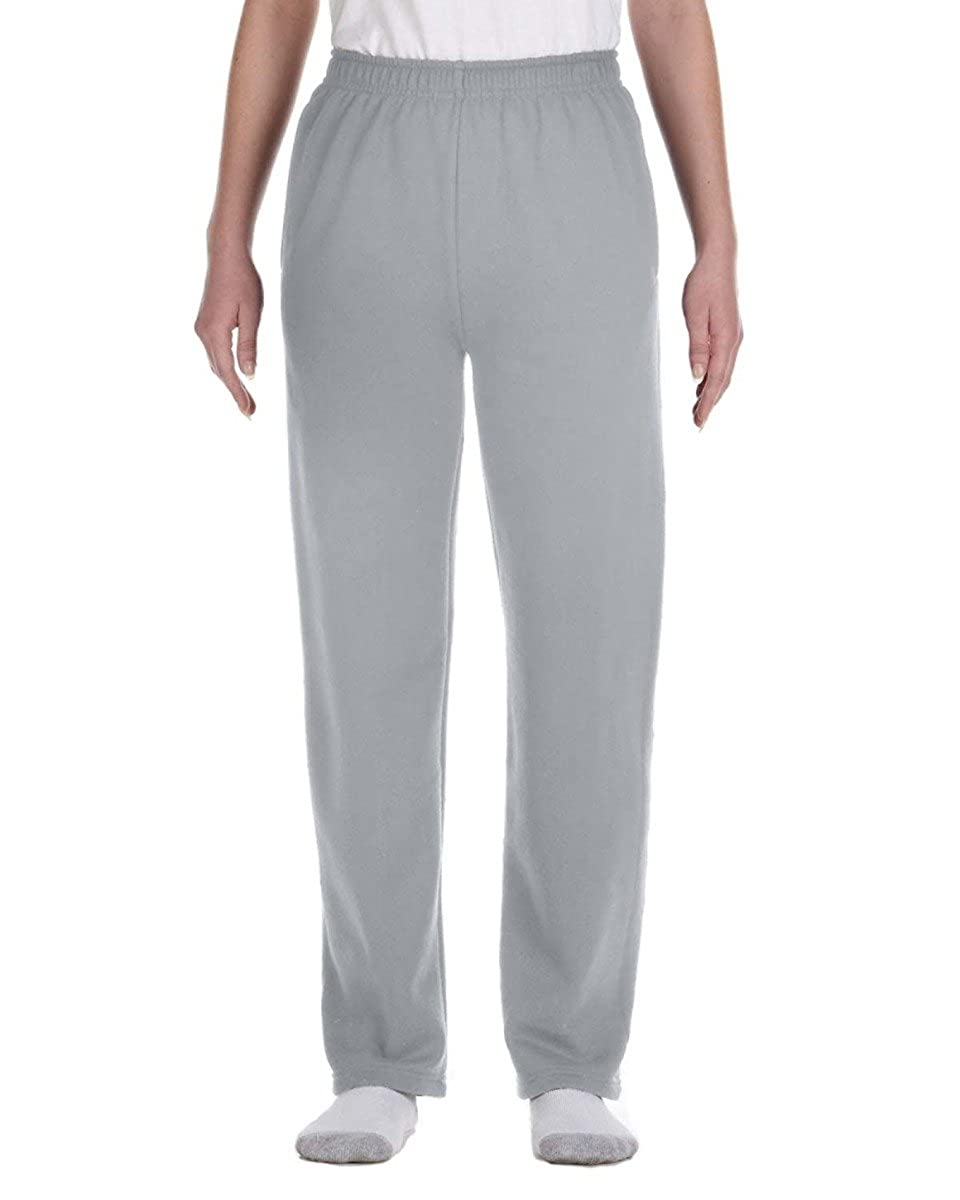 974Y Jerzees Girls 8 oz 50//50 NuBlend Open-Bottom Sweatpants