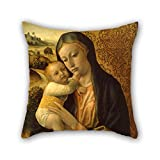 The Oil Painting Vincenzo Foppa - The Virgin And Child Pillow Covers Of 18 X 18 Inches / 45 By 45 Cm Decoration Gift For Bar Teens Girls Teens Father Car Seat Birthday (2 Sides)