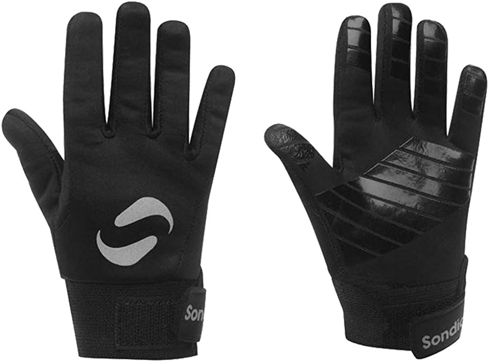 Sondico Childrens Football Finger Grip Players Gloves 7-13 Yrs