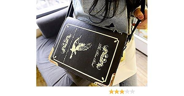 949c136bcbf7 New Designer Magic Book Shaped Leather Message Bag Vintage Satchel Shoulder  Bag Casual Handbags for Women
