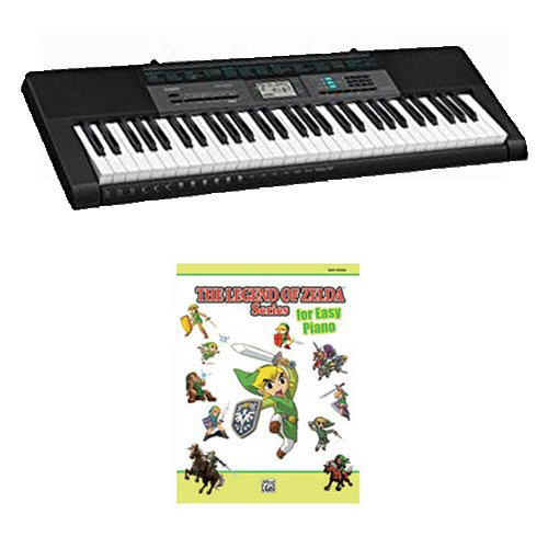 Casio CTK2550 61-Key Keyboard Bundle Includes Bonus Legend of Zelda Series Easy Piano Book by Video Game Music
