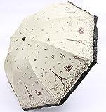 GKRY Fashion Art Umbrella/Windproof Travel Umbrellas/Folding Umbrella/for Business and Travels/SPF 377+ SUN RAIN Umbrella/RAIN Umbrella The ultra fine umbrella blue sky.