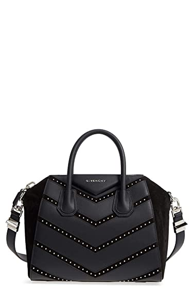 12f1e1a3a308 Amazon.com  Givenchy Small Antigona Chevron Studded (Black)  Shoes