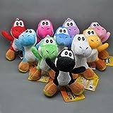 Super Mario Bros Yoshi 4 Inch Toddler Stuffed Plush Kids Toys 10 Pcs/set by kidsheaven