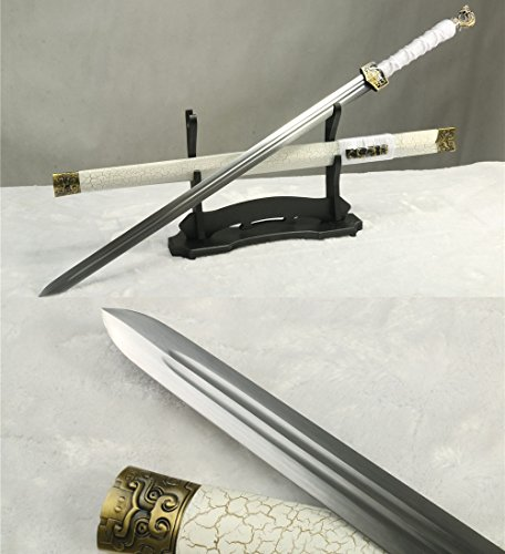 1060 CARBON STEEL HANDMADE FULL TANG BLADE DRAGON HEAD CHINESE SWORD
