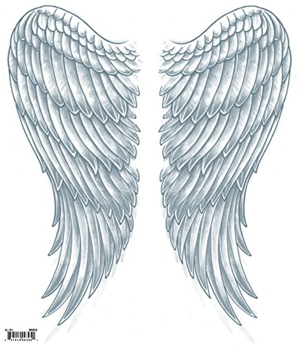 Tinsley Transfers  Wings, Flesh/Multi, One Size