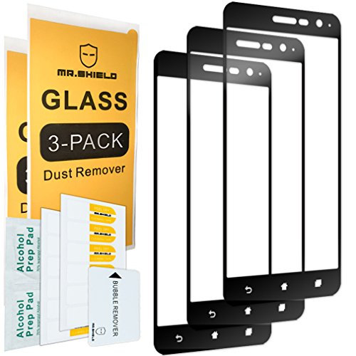 [3-PACK]-Mr Shield For Asus ZenFone 3 ZE520KL 5.2 Inch [Japan Tempered Glass] [9H Hardness] [Full Cover] Screen Protector with Lifetime Replacement Warranty