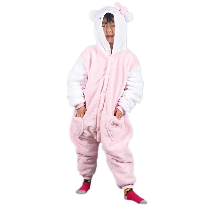 Autek Niños Teen Baby Animales Unisex Onesie Disfraz Jersey pijamas ropa de noche Pijama Kitty Cat