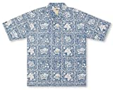 Reyn Spooner Men's Lahaina Sailor Classic Woven Shirt, Denim, Medium