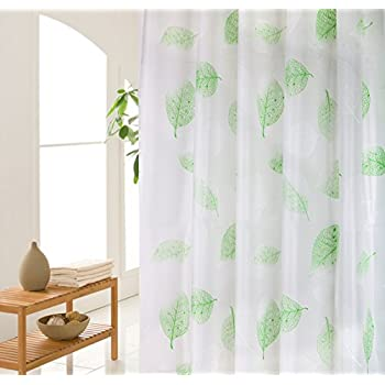 Amazon.com: Wimaha Green Shower Curtain, Leaves Shower Curtain Liner ...