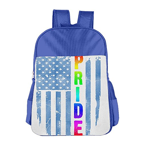 Kid's PRIDE LGBT Flag USA American School Backpack Bookbag For Boys & Girls Aged ()