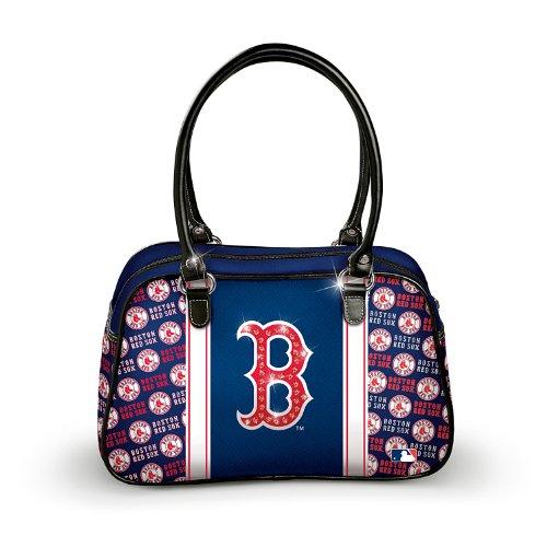 Women's Polyester Twill Handbag: Boston Red Sox City Chic Handbag By The Bradford Exchange 01-17384-001