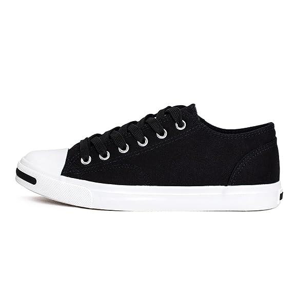 parejas de lona/Zapatos de encaje de corte de bajo blanco/ reír zapatos ocasionales-B Longitud del pie=23.3CM(9.2Inch) E4QHn