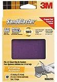 3M SandBlaster 99662ES 180-Grit Palm Sander Sheets, 10-Pack