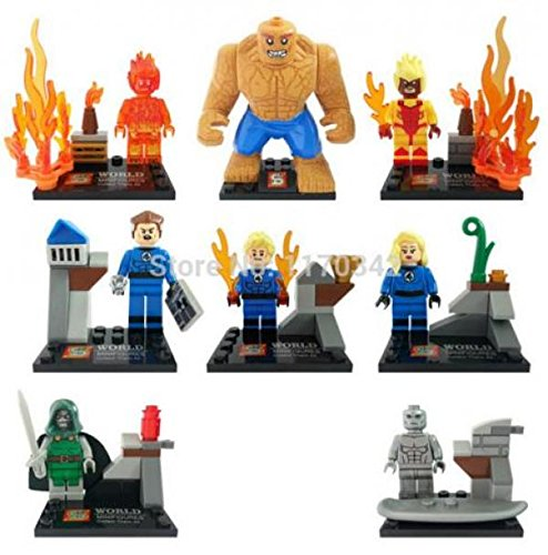 FANTASTIC FOUR 4 Super Hero Thing Building Bricks Blocks Sets Marvel Figures Minifigure Toys Gift Compatible With Lego kukull Veprimi Figura heronj femije (WITHOUT original (Thing Superhero)